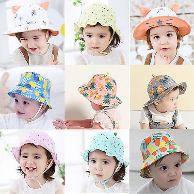 Summer Toddler Kids Newborn Baby Girls Cute Sun Hats Cotton Cap Fisherman Hat