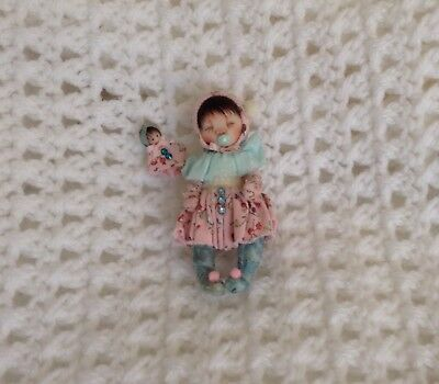 Ooak Miniature Baby Doll Hand sculpted By Shell