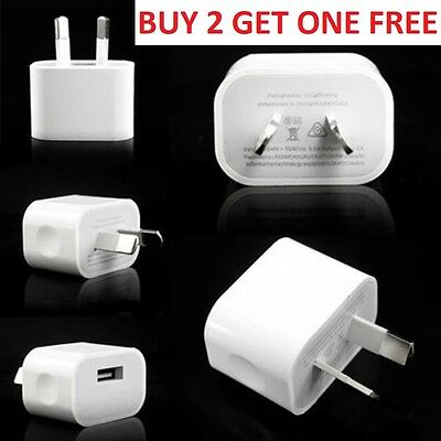 5V 2A AU Plug USB Wall Charger Power Adapter for Apple iPhone 7 Plus/ 6s/ 6/5S/5