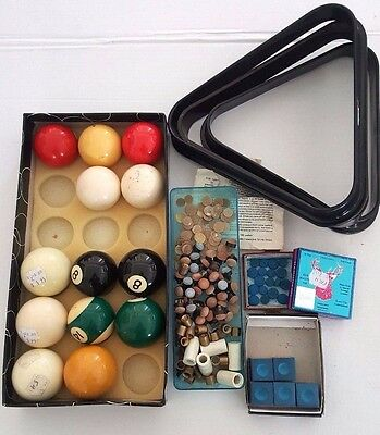 MIxed lot of POOL SNOOKER BILLIARD CUE TIPS and acceccories