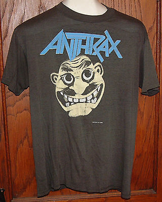 "ANTHRAX ""Not Man"" 1988 Vintage Thrash Metal T-Shirt L"