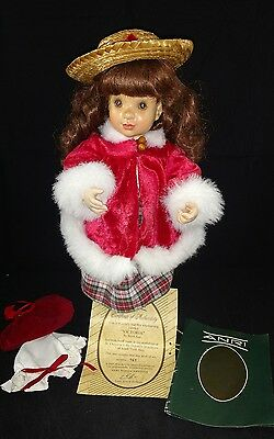 """Anri,14"""" Wood Doll """" Victoria"""" by Sarah Kay Limited edition  461/750 with COA"""