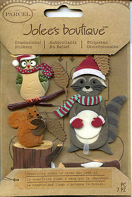 "Jolee's Boutique ""WOODLAND CRITTERS"" Dimensional Scrapbooking Stickers - S46"