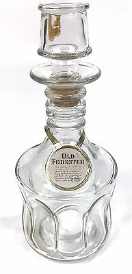 Vintage Clear Glass Decorative Old Forester Whiskey Bottle