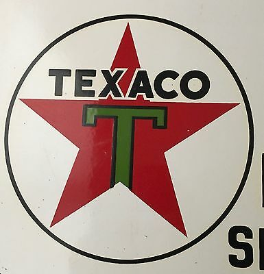 Vintage Original Porcelain Texaco Oil Company Sign Gas Automobile Advertising