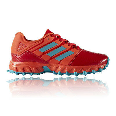 Adidas Junior Red Hockey Court Sports Shoes Trainers Pumps Sneakers