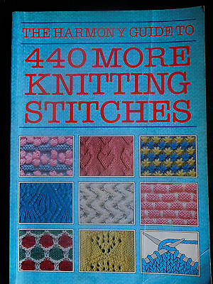 Harmony Guide to 440 MORE Knitting Stitches - 1992