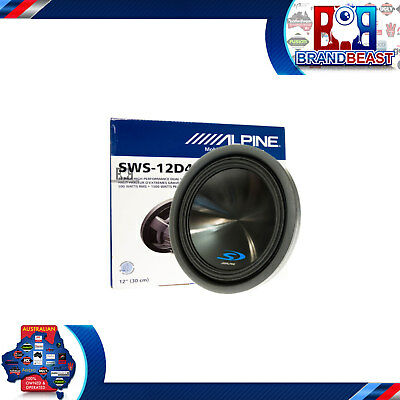 "New Alpine Sws-12d4 12"" Type-s Sub Dual 4-ohm Car Audio Subwoofer 1,500 Watts"