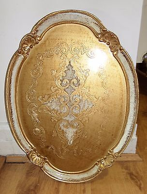 Vintage Traditional Italian Paper Mache Tray