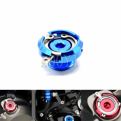 Motorcycle CNC Oil Cup Filter Blue FOR Yamaha FZ-10 MT-07 MT-09 YZF-R6 YZF-R3