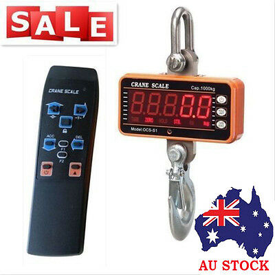 AU! High precision 1000KG 2000LBS-1T Aluminum Digital Crane Scale Duty Hanging