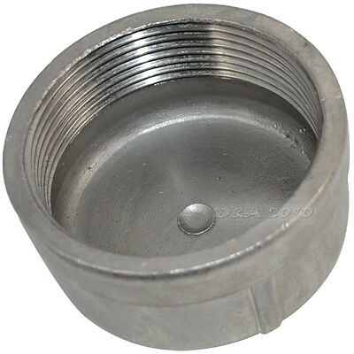 "2"" Cap Female Stainless Steel SS304 Threaded Pipe Fitting BSPT"