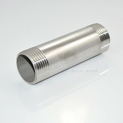 "1-1/4""Male x1-1/4"" Male Threaded Pipe Fitting 100MM Stainless Steel SS304 BSP CL"