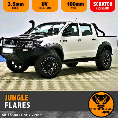 Hilux Facelift 2012-2015 Tough Fender Flares Jungle Guard Wheel Arch Sr5 Black