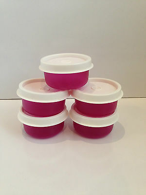 TUPPERARE Midget Containers x 5 - Small Containers - Pills / Sauces etc - NEW!