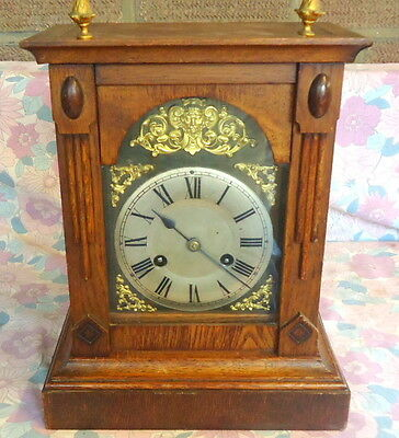 """Phillip Haas & Sohne"" PHS Black Forest Mantel Clock.German. Brass Mouldings"