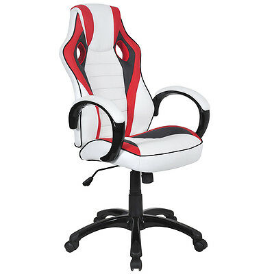 Executive Racing Style Chair High Back Bucket Seat Computer Office Desk Task New
