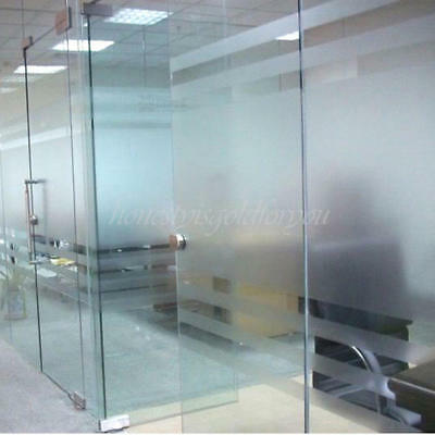 45x100cm Frosted Glass Window Sticker Privacy Translucent Static Film Adhesive