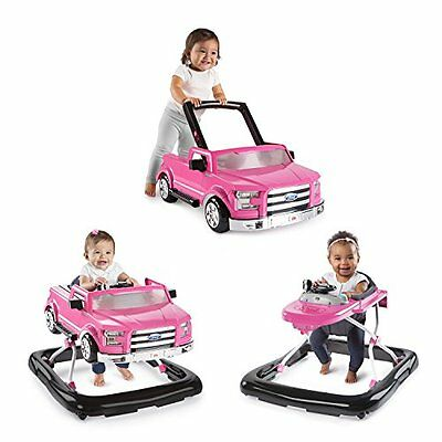 NEW Bright Starts 3 Ways to Play Baby Activity Walker Ford F-150 in Pink