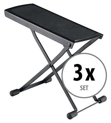 3x SET REPOSE STAND SUPPORT POUR PIED GUITARE GUITARISTE AJUSTABLE ANTIDERPANTE