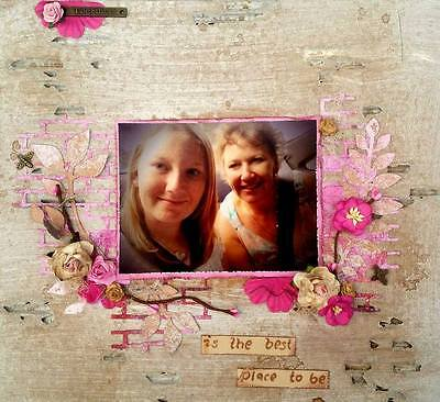 PREMADE 12x12 Female Scrapbooking Layout - Together is the best place to be!