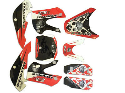 NEW Red  3M Stickers Decals Graphics KLX110 kx65 02-09 DRZ100 RM65