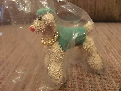 Weird Unique Vintage Poodle Figurine Made From Cockle Burrs