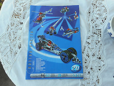 Meccano Motion System 6520 Instruction Manual Booklet Only