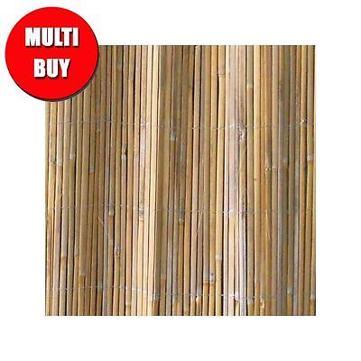 Split Bamboo Cane Garden Screening Rolls Fencing Privacy  1.8m x 5m - 2 Pack