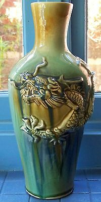 Stunning Vintage Ceramic Dragon Vase - 36 cm tall
