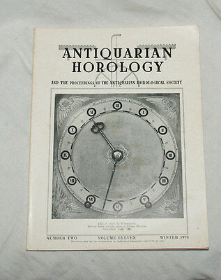 ANTIQUARIAN HOROLOGY  Volume 11  No.2 - Winter 1978