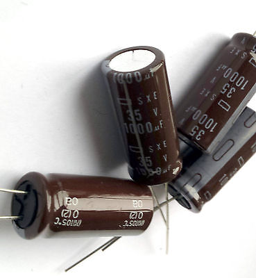 4x pieces Electrolytic Capacitor, Chemicon (JAPAN) SXE 1000uF 35v 105°C -ref:300