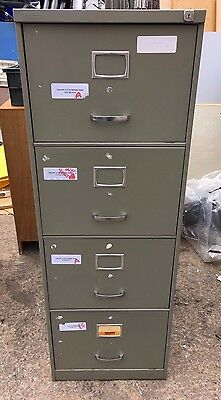 Triumph Vintage Retro Grey 4 Drawer Filing Storage Cabinet