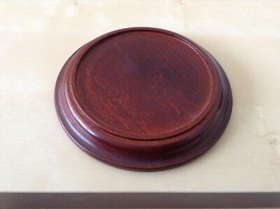 """Wooden Vase Stand 61/4"""" Diameter With 43/4"""" Inset Space"""