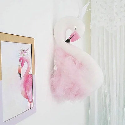 Swan Wall Hanging Decoration Kids Room Decoration Nursery Decor Swan Wall Decor