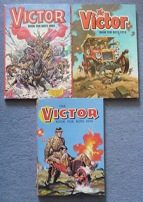 Victor boys Annuals 1974, 1978 and 1985