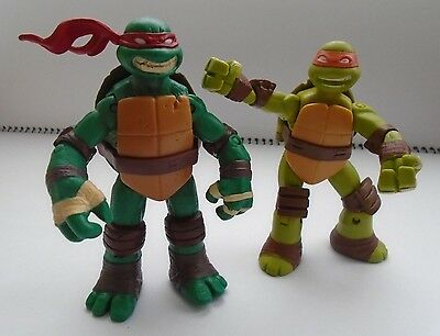 Ninja Turtles Raphael and Michelangelo 2 Action Figures Set Toys Moving Parts