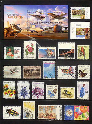 Selection of mainly fine used Australian stamps with MS