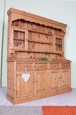 Delivery Options - Lovely Old Rustic Pine  Welsh Dresser, 6 Ft Bags Of Character