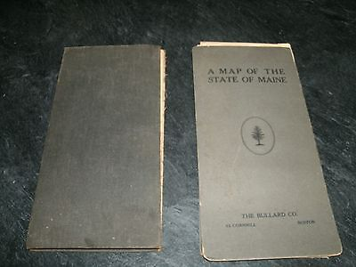 Lot of 2 Antique Hardbound, Fold-Out, Maine Maps