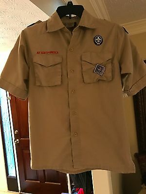 Boy Scouts of America Tan / Beige Short-Sleeve Shirt - Youth Large