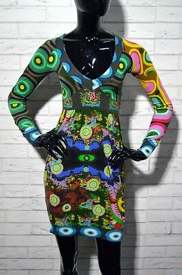 Vestito Abito Desigual Happy Donna XS Casual Vintage Cocktail party multicolore