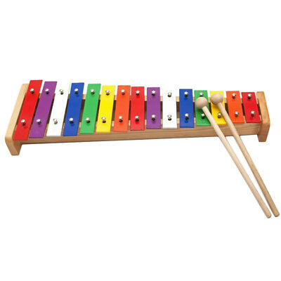 15-note Wooden Aluminum Plate Colorful Xylophone for Kids Gift Musical Toys