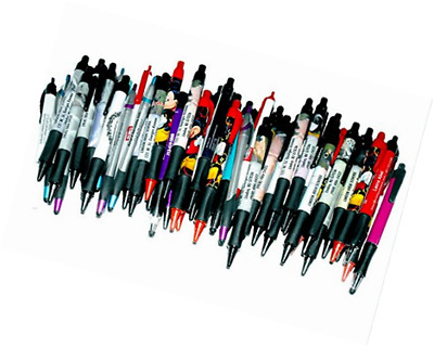 50 Wholesale Lot Misprint Ink Pen Ball Point Plastic Retractable Office Style