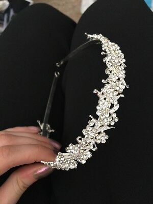 Bridal Silver Crystal Headband