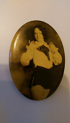 Vintage Lady Burlesque Pin-up Dancer  Pocket Mirror   LOOK.....