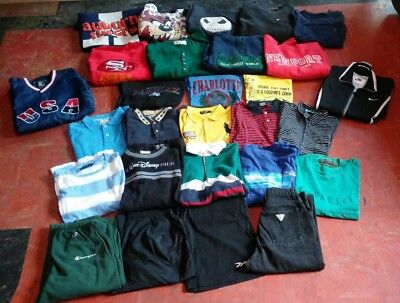 Vintage Clothing Lot - 28 Pieces (Polo, Champion, Nike, Disney, Guess, Sports)