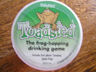 iPartyHard TOASTED: The Frog~Hopping Drinking Game w/ Glass~4 Frogs~Instructions