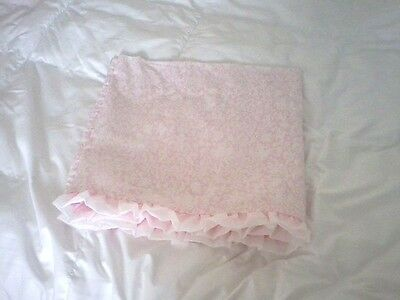 "Kidsline Pink White Nursery Valance Ruffled 60X15"" Twirling Around No Fading EXC"
