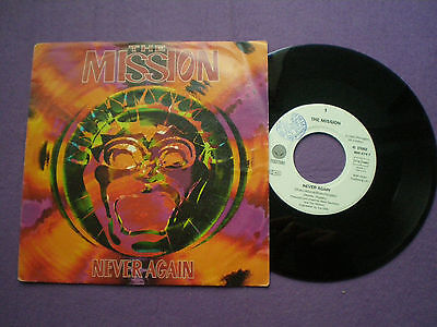 THE MISSION Never Again GERMANY 45 1992 Goth Rock